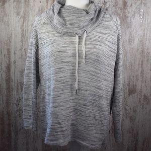 Rafaella Cowlneck Light Gray Sweater Small